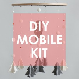 DIY KIT Owl & Trees, Winter Woodland Mobile