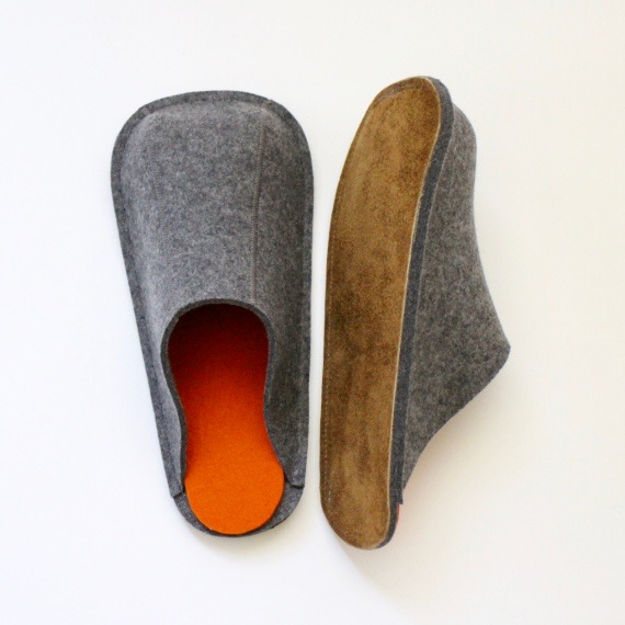 Natural Dark Gray Unisex Slippers (S, M, L)