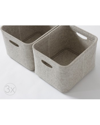 M size, Set of 3 / Custom-made Storage Basket