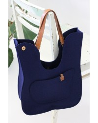 Navy Blue Bird Bag
