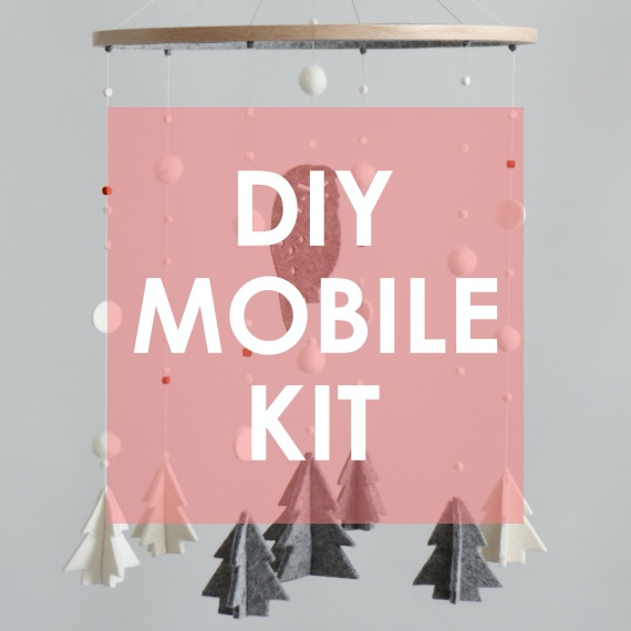 Printable GUIDE of DIY KIT Owl & Trees, Winter Woodland Mobile