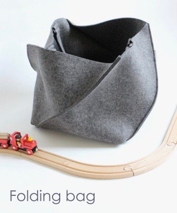 folding bag in dark grey