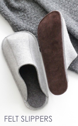 felt slippers for men and women