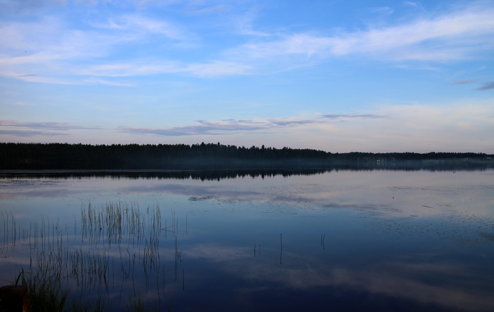 After the rain, clear sky in July in Finland