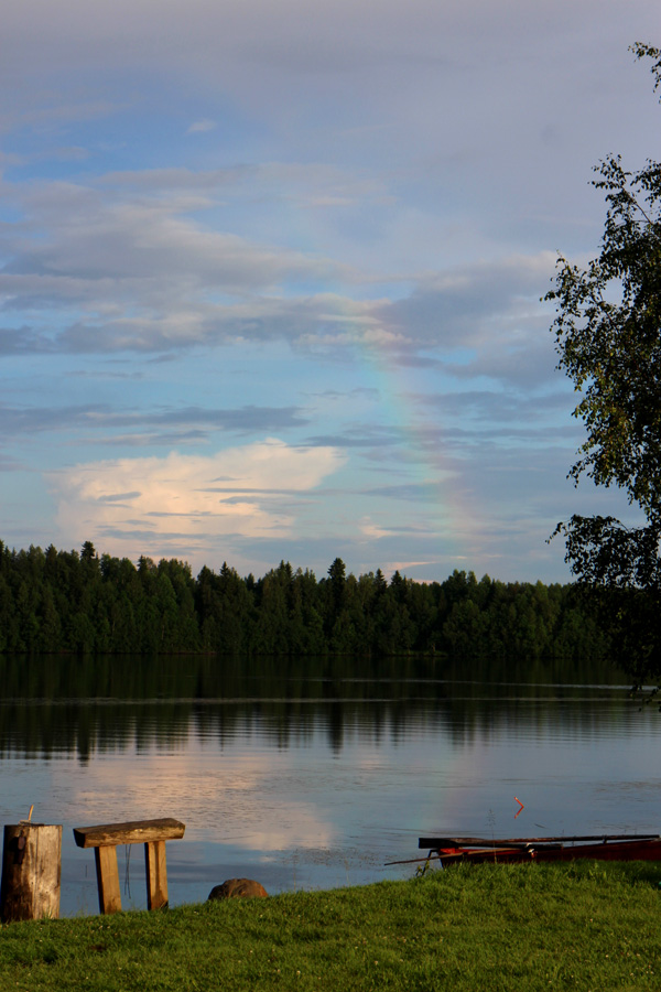 Rainbow in July in Finland