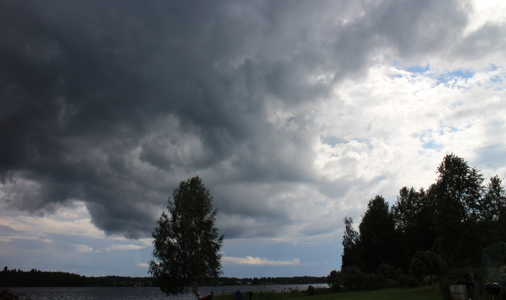 Thunderhead in Finland, in July.