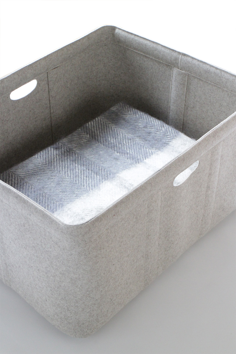 Custom-made, extra large felt storage basket by Aika Felt Works