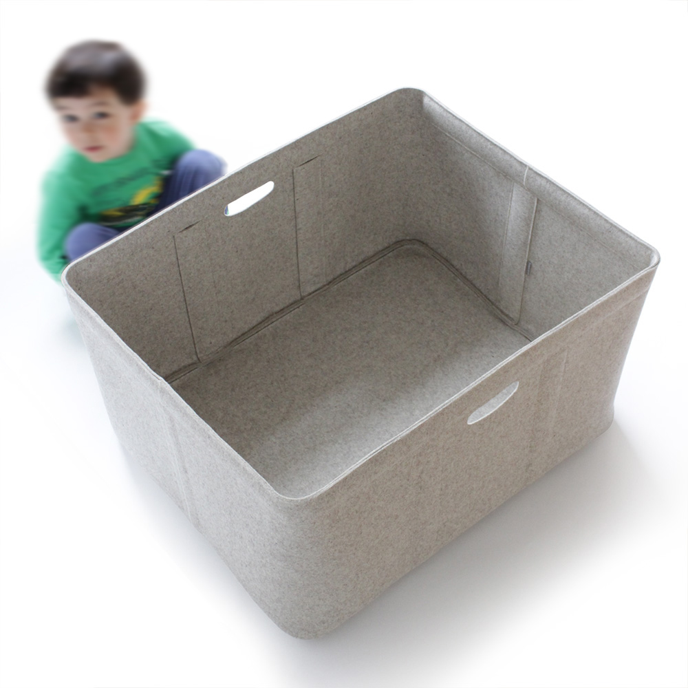 Custom-made, extra large size felt storage basket by Aika Felt Works